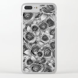 Faded Roses Clear iPhone Case