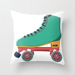 old school roller skate Throw Pillow
