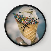 sprinkles Wall Clocks featuring Sprinkles by Amanda Lily