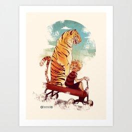 boy and Tiger Art Print
