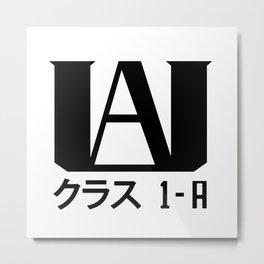 UA Academy 1-A (Black) Metal Print