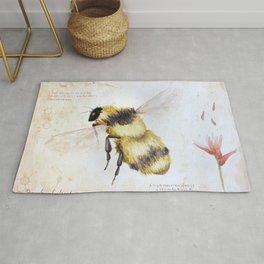 Bumble bee watercolor Rug