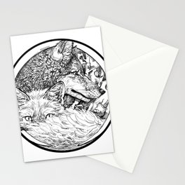 The Wolf and the Fox Stationery Cards