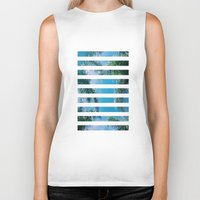 palm trees Biker Tanks featuring PALM TREES by C O R N E L L