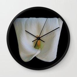 Square Shaped Calla Lily Wall Clock