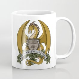 Clan Stonefire Crest - Gold Dragon Coffee Mug