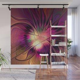Flowering Fantasy, Abstract Fractal Art Wall Mural