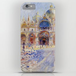 Auguste Renoir - The Piazza San Marco in Venice iPhone Case