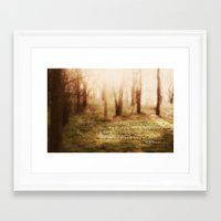 forrest Framed Art Prints featuring Forrest by Terri Ellis