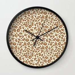 Leopard spots animal pattern print minimal basic home decor safari animals Wall Clock
