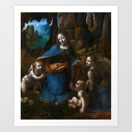 "Leonardo da Vinci ""The Virgin of the Rocks"" (London) Art Print"