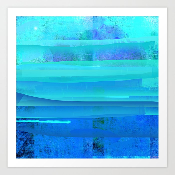 Water Blue Abstract Art Print