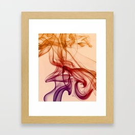 Smoke composition in pastel tones Framed Art Print