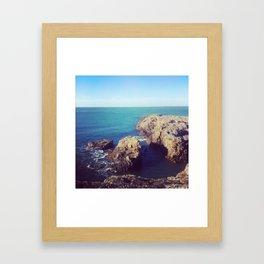 Who likes rocks? Framed Art Print