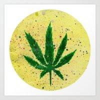 marijuana Art Prints featuring MARIJUANA by Sha Abdullah