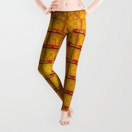 Orange Buddha glass plate Leggings