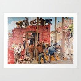 Masons at Work Art Print