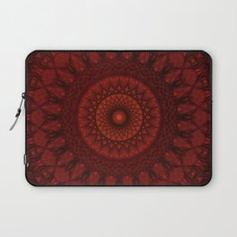 Dark and light red mandala Laptop Sleeve