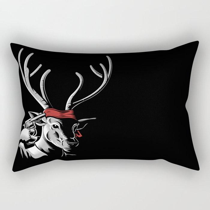 The Deer Hunter Rectangular Pillow