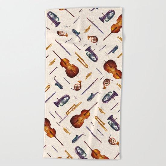 Wind Orchestra Beach Towel