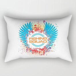 Fishing Squad Graphic Rectangular Pillow