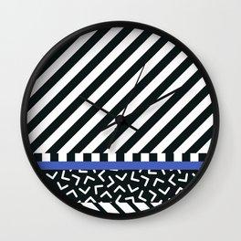 Memphis pattern 89 Wall Clock