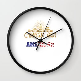 Citizen Citizenship China America Nationality An Awesome Chinese Guy In An American World Gift Wall Clock