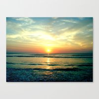 sunrise Canvas Prints featuring Sunrise by THEORY