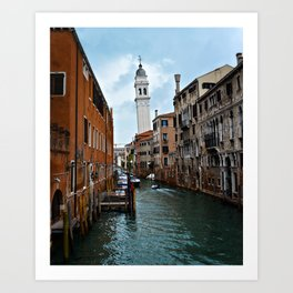 Leaning Venice Art Print