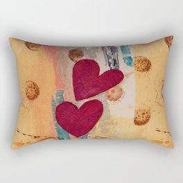 Two Hearts as One Rectangular Pillow