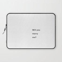 Marry me Laptop Sleeve