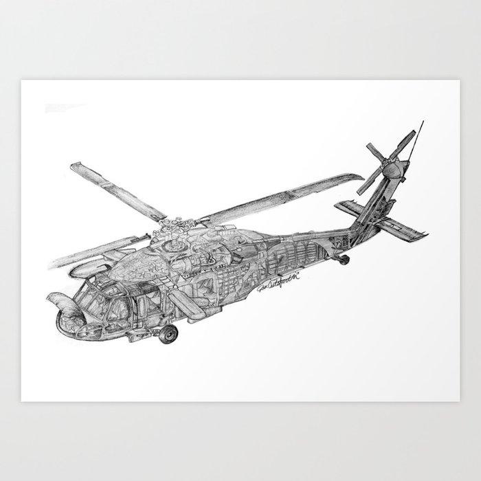Blackhawk Sketch Art Print