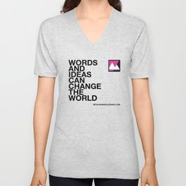 Words and ideas can change the world Unisex V-Neck