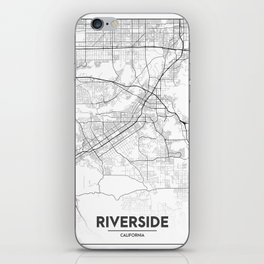 Minimal City Maps - Map Of Riverside, California, United States iPhone Skin