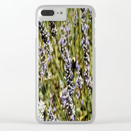 The Buzz in the Lavender Field Clear iPhone Case