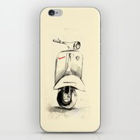 vespa iPhone & iPod Skins featuring Vespa by Juan Alonzo