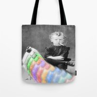 lsd Tote Bags featuring LSD Chicken by Whiteashes