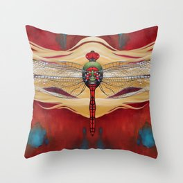 The Red Half Throw Pillow