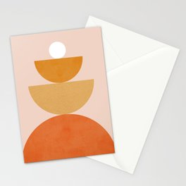 Abstraction Circles Balance Modern Minimalism 007 Stationery Cards