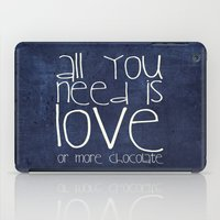 chocolate iPad Cases featuring CHOCOLATE by Monika Strigel