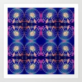 Magical Ferris Wheel Art Print