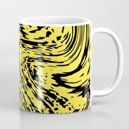 Aggressive yellow marble pattern Coffee Mug