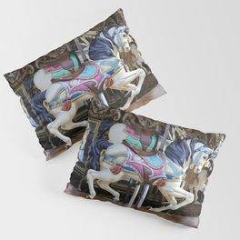 Vintage Carousel Horse galloping II Pillow Sham