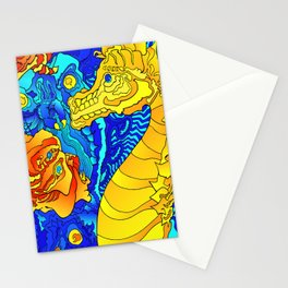 Other Worlds: Wild Sea Horse Stationery Cards