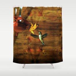 Hovering Hummingbird Shower Curtain