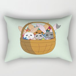 Bunny basket Rectangular Pillow