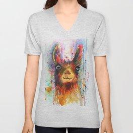 Llama love Unisex V-Neck
