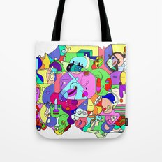 Can you spot the faces? Tote Bag
