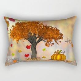 Autumn Squirrel Scene Rectangular Pillow