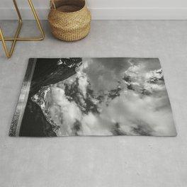 Lake Louise Black and White Minimalism Photography | Black and White | Photography Rug
